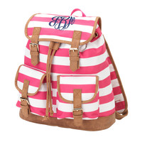 Pink Stripe Backpack