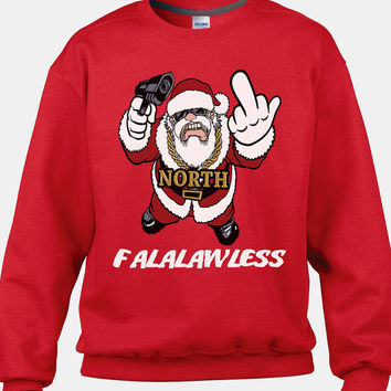 Tacky Christmas Sweater, Santa Sweater, Santa Clause Sweater, Thug Santa Jumper, Ugly Santa Sweater, Christmas Sweatshirt, Funny Christmas