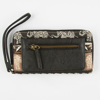 Elephant Print Wallet Black One Size For Women 25597010001
