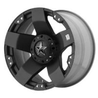 "XD Series by KMC Wheels XD775 Rockstar Matte Black Wheel (18x9""/5x114.3, 120.7mm, 0mm offset)"