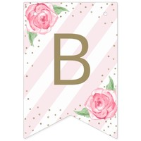 Floral Bridal Shower Bunting Banner Shower Decor