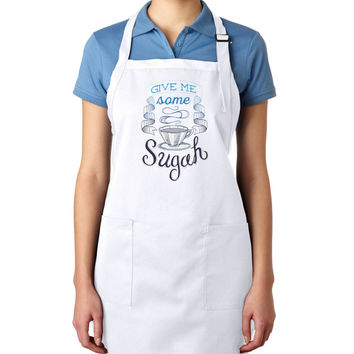 Give Me Some Sugah EMBROIDERED Men's Apron Woman's Apron (May be Personalized)
