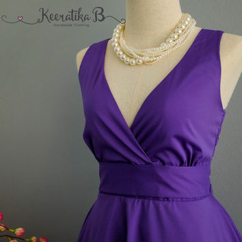 My Lady II Spring Summer Sundress Dress Royal Purple Party Dress Purple Bridesmaid Dress Garden Party Sundress Royal Purple Dresses XS-XL