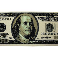 "Big Money 100 Dollar Bill Area Rug Door Mat,  22"" X 53"""