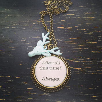 Harry potter snape patronus necklace