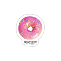 Donut Worry Be Happy by racheladditon