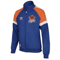 NBA New York Knicks Blue On-Court Track Jacket