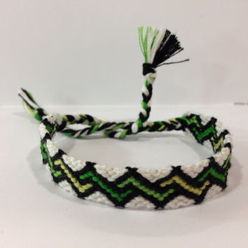 Green Zig-Zag Friendship Bracelet