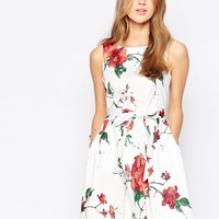 Closet | Closet Foral Bow Skater Dress at ASOS
