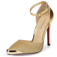 High Heel Party Shoes Gold