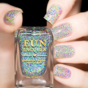 Fun Lacquer Crushed Diamond Nail Polish (Holo Topper Collection)