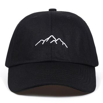 Men's Mountain Range Embroidered Hat