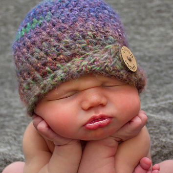 Baby Crochet Hat Baby Girl Hat Autumn Color Crochet Hat Newborn Hat Photography Prop