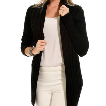 Black long cardigan woman knit cardigan sweater womens clothing women's sweaters Black cardigan christmas gifts
