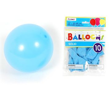 """12"""""""" Solid Color Balloons - Pastel Blue Case Pack 36"""
