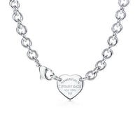 Tiffany & Co. - Return to Tiffany™ heart tag choker in sterling silver.