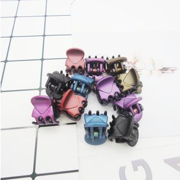 20 pcs/sets Fashion Women crab Hair claw clip Girls Brown Black Plastic Mini Hairpin Claws Hair Clip Clamp For Women Gifts jewe
