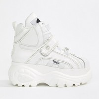 Buffalo Classic Hightop Platform Sneakers in White at asos.com