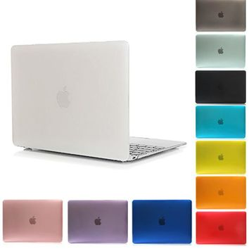 Matte Rubberized Hard Case Cover For Macbook Pro 13 15 Pro Retina 12 13 15 Macbook Air 11 13 A1706 A1708 Laptop Shell-YCJOYZW