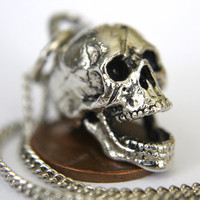 3D Laughing Skull Necklace
