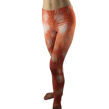 17d6032209ea5 Deer Leggings - Fawn Leggings - Deer fur Leggings - Deer Costume -  Halloween Costume