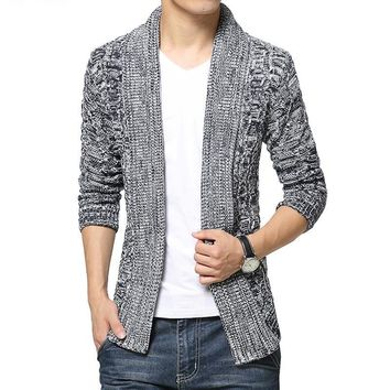Cardigan sweater men sueter mens sweaters mens jumpers clothing Thick Fashion Cardigan masculino New arrival
