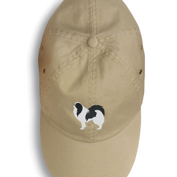 Japanese Chin Embroidered Baseball Cap BB3437BU-156