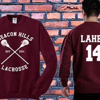 Stiles Stilinski sweater Teen Wolf,Isaac Lahey 14 Crewneck Sweater   Available Size S,M,L,XL,XXL color black and white