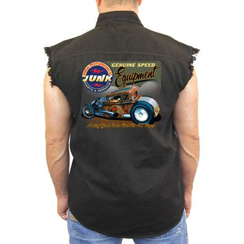 Men's Sleeveless Denim Shirt Genuine Speed Equipment