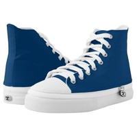 Oxford Blue High Top Custom shoes Printed Shoes