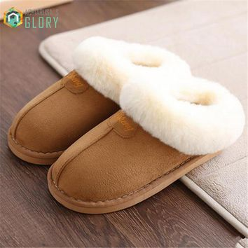 Home slippers women plush Slipppers Australia UG style female house Indoor man Bathroom slippers solid Adult pantufa CTSLP-162