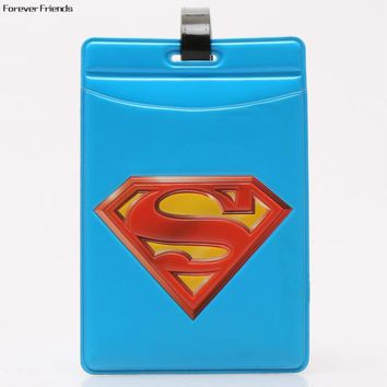 PVC World architecture fashion personality baggage claim luggage tags,Bag Parts & Accessories for Travel ,Superman logo