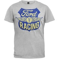 Ford - Distressed Racing Plaque T-Shirt