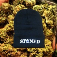 SoCiaL ReJecTx — BLACK STONED BEANIE