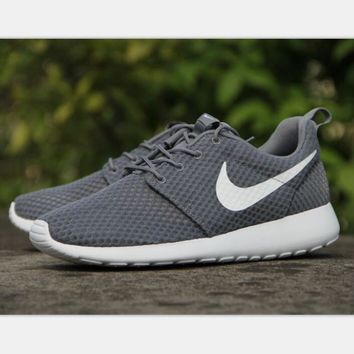 NIKE ROSHE Man Women fashion sneaker sports shoes honeycomb gray-white hook H-MDTY-SHI