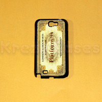 Samsung Galaxy Note 2 case,Platform Ticket Samsung Galaxy Note 2 case For your Samsung Galaxy Note 2