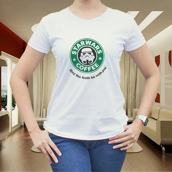 Starwars Coffee for women t shirt men t shirt tshirt cotton clothing