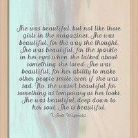 She Was Beautiful By F. Scott Fitzgerald 4 #painting #minimalism #poem by Andrea Anderegg Photography