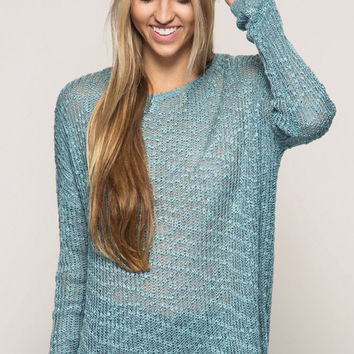 Cozy Country Cottage Sweater - Slate
