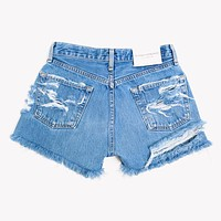 High Rise Butt Rip Vintage Blogger Shorts