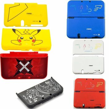 Matte Protector Cover Plate Protective Case Housing Shell for Nintendo New 3DS LL/ New 3DS XL for  Pikachu Monster HunterKawaii Pokemon go  AT_89_9