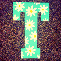 Daisy Hand Painted Wooden Letter