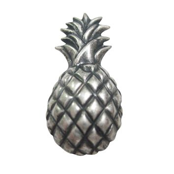 Silver Toned Detailed Pineapple Fruit Magnet
