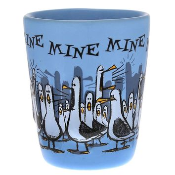 disney parks seagulls finding nemo mine mine mine blue shot glass new