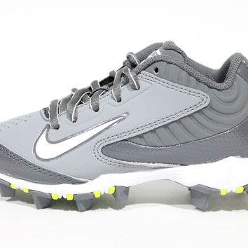 Nike Kid's Huarache Keystone Low BG Grey/White Baseball Cleats