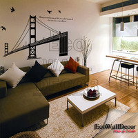 PEEL and STICK Removable Vinyl Wall Sticker Mural by EcoWallDecor