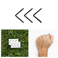 Arrow - Temporary Tattoo (Set of 2)