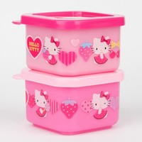 Hello Kitty Lunch Case Set: Hearts