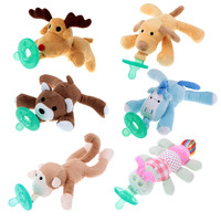 Baby Silicone Pacifiers with Plush Animal