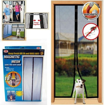 Anti Mosquito Door Screen Magic Mesh / Bedroom Screen Keep Fresh Air Mesh [8045603783]